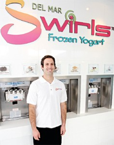 Swirls frozen yogurt